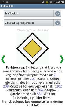 Trafikkskilt apk screenshot