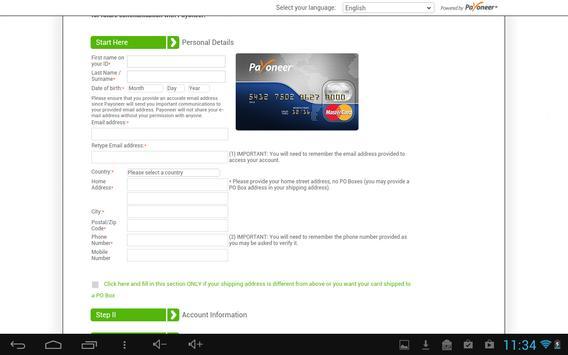 FastPayoneerRegistrator apk screenshot