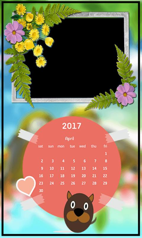 calendar frames 2017 apk screenshot