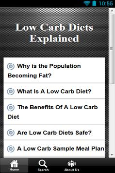 Low Carb Diets Explained poster