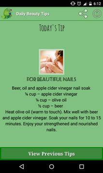 DAILY BEAUTY TIPS poster
