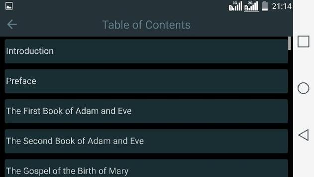Lost Books of the Bible Free apk screenshot