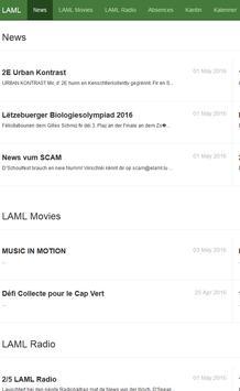 LAML App poster
