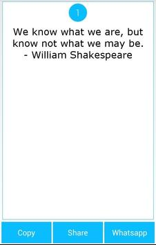 101 Great Saying by Shakespear apk screenshot