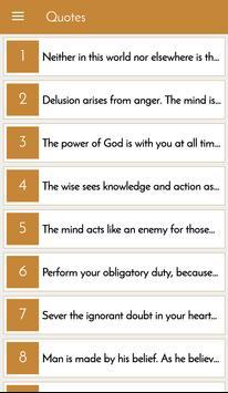 Bhagvat Gita Quotes in English poster