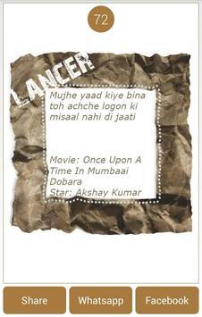 Top Bollywood Dialogue Images apk screenshot