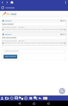 Azerbaijani German dictionary apk screenshot