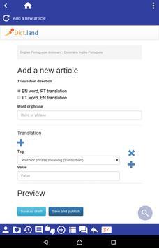 English Portuguese dictionary apk screenshot