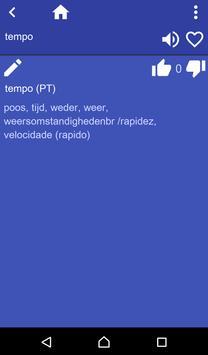Dutch Portuguese dictionary apk screenshot