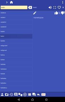 Czech Slovak dictionary apk screenshot