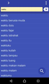 Indonesian Latin dictionary poster