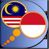 Indonesian Malay dictionary icon
