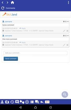 Japanese Turkish dictionary apk screenshot