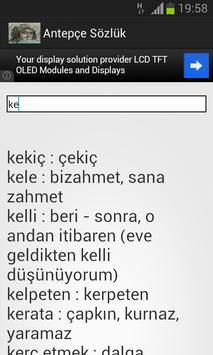 Antepçe Sözlük apk screenshot