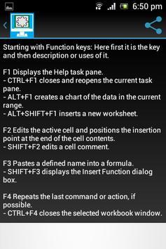 Learn MS-Excel formula apk screenshot