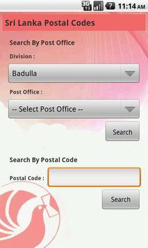 Sri Lanka Postal Codes poster