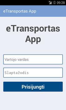 eTransportas App poster