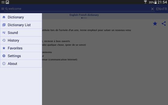 HedgeDict English-Spanish apk screenshot