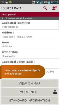 kadastrs.lv apk screenshot