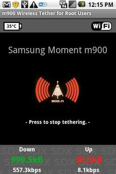 Samsung Moment WiFi Tether poster