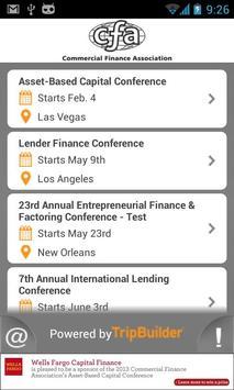 CFA 2013 Multi Event App poster