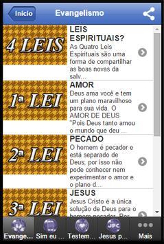 EVANGELISMO apk screenshot