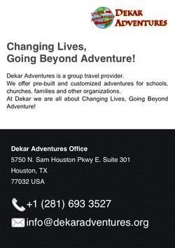 Dekar Adventures poster