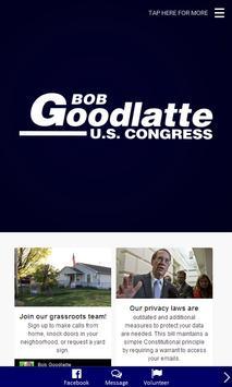 Bob Goodlatte for Congress poster