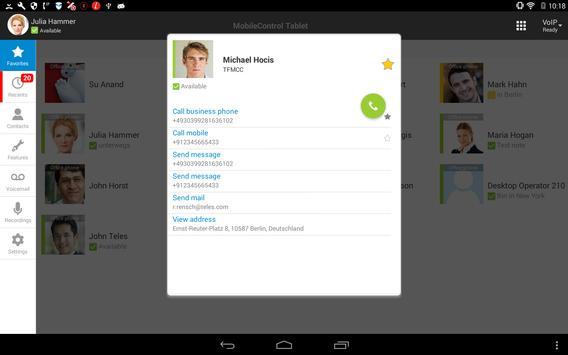TELES MobileControl Tablet apk screenshot