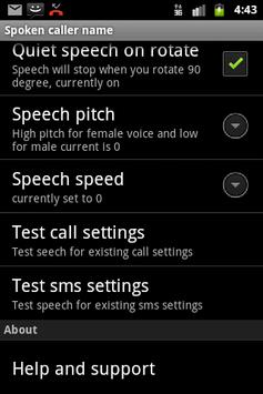 Talking SMS and Caller ID Free apk screenshot