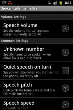 Talking Caller ID Free apk screenshot