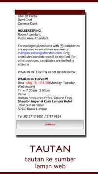 Malaysia Hotel Jobs apk screenshot