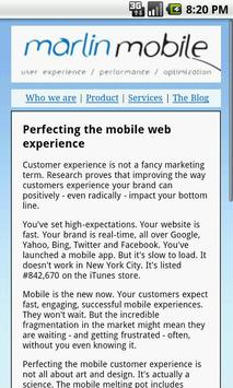 Marlin Mobile Web poster