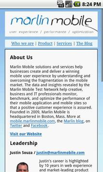 Marlin Mobile Web apk screenshot