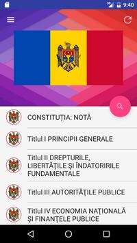 Constituția Republicii Moldova poster