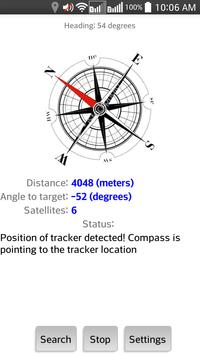 Compass for GPS trackers poster