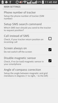 Compass for GPS trackers apk screenshot