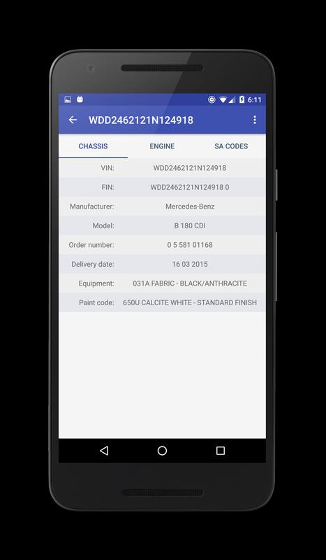 Vin Decoder For Mercedes Benz Apk Download Free Tools App For Android Apkpure Com
