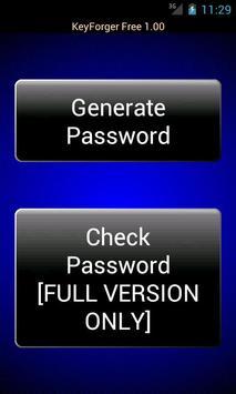 KeyForger Free Password Gen poster