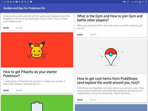 Guides and tips for Pokemon Go apk screenshot