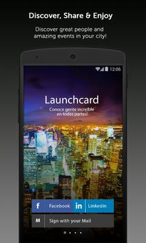 Launchcard poster