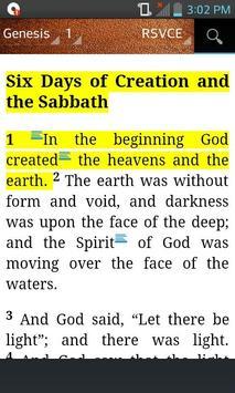Bible Catholic RSVCE (English) apk screenshot