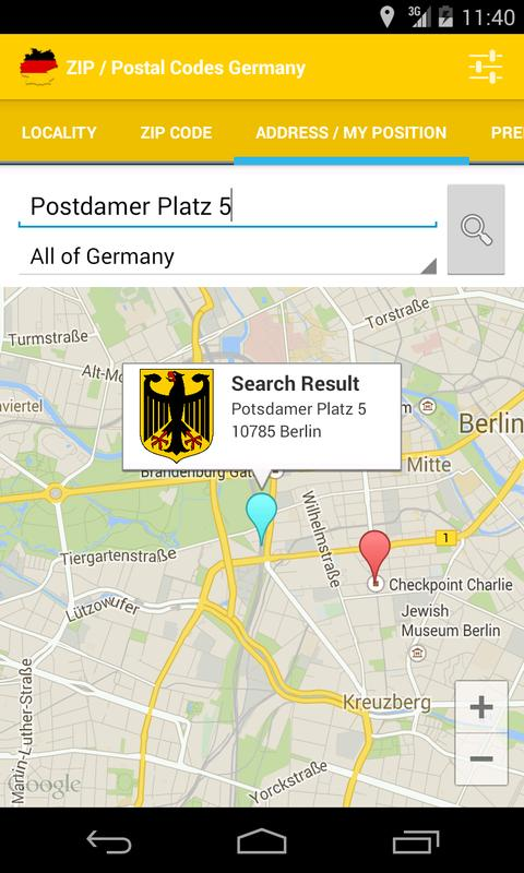 zip postal codes germany apk download free travel. Black Bedroom Furniture Sets. Home Design Ideas