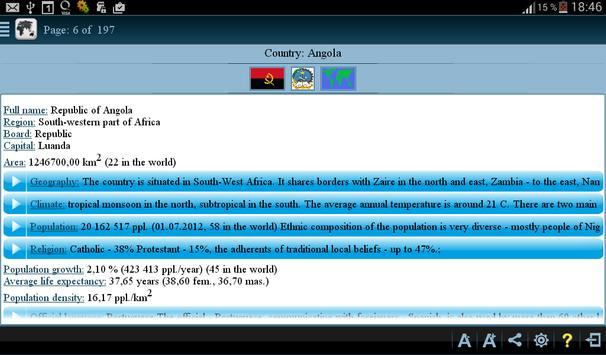 Countries Info (+Quiz) apk screenshot