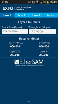 EXFO Ethernet Calculator poster