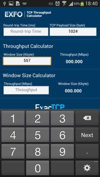 EXFO Ethernet Calculator apk screenshot