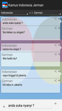 Kamus Indonesia Jerman Pro apk screenshot