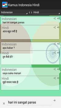 Kamus Indonesia Hindi Pro apk screenshot