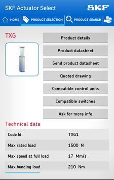 SKF Actuator Select apk screenshot