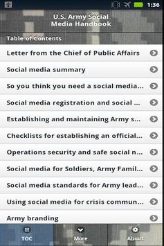 US Army Social Media Handbook apk screenshot